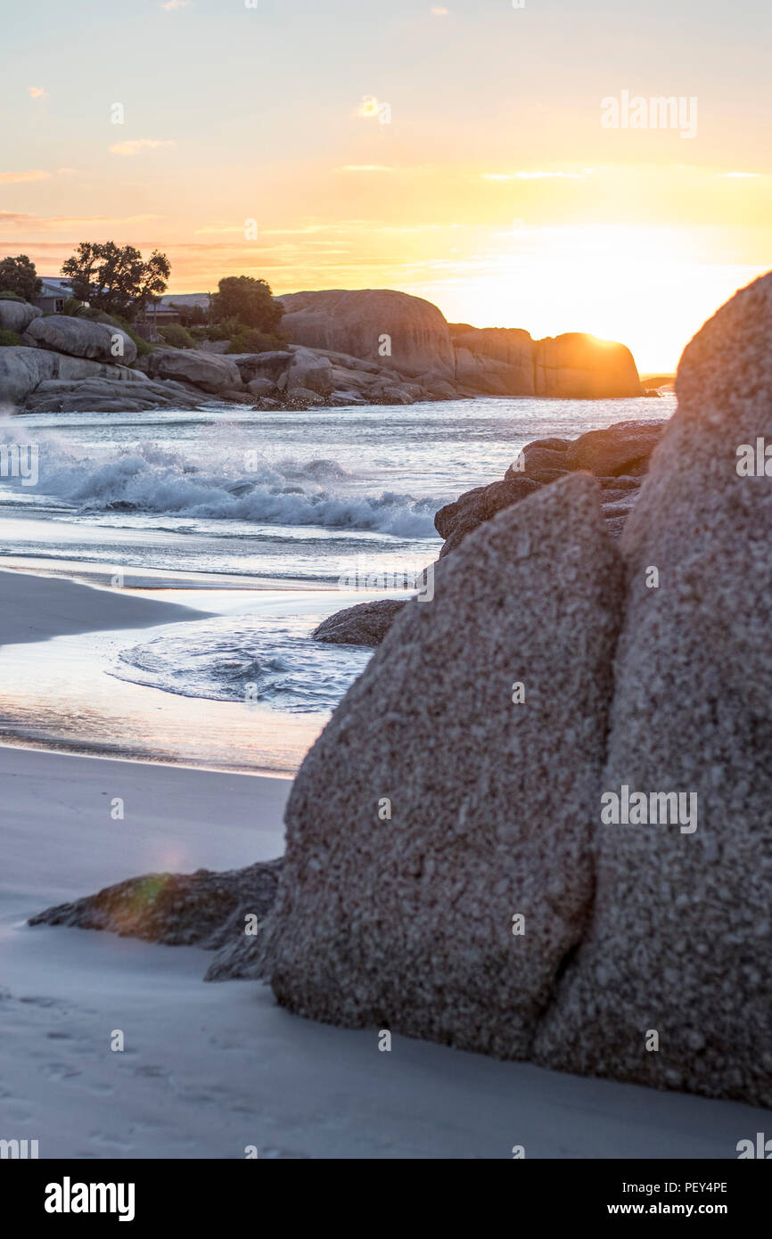 Sunset Clifton Beach Cape Town South Africa Beach, Sonnenuntergang Kapstadt strand - Stock Image