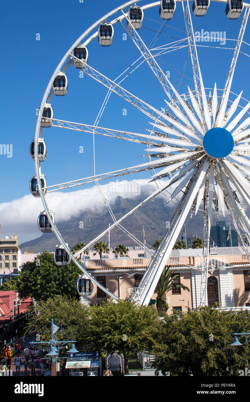 Riesenrad Kapstadt V&A Waterfront big wheel, Cape Town, South Africa, Südafrika - Stock Image