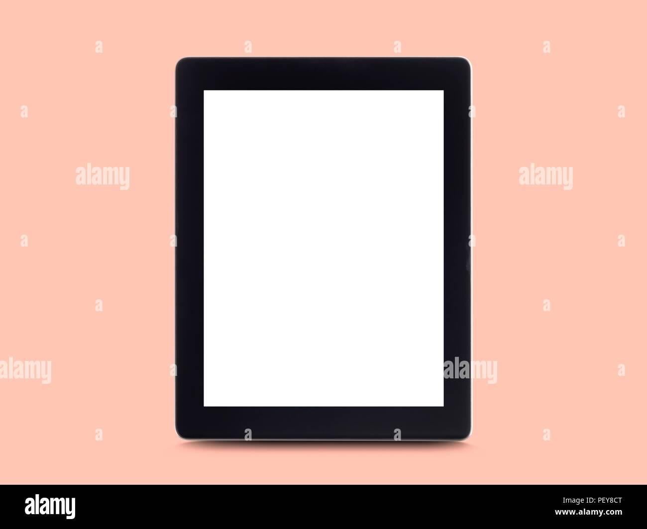 Digital tablet, studio shot. - Stock Image