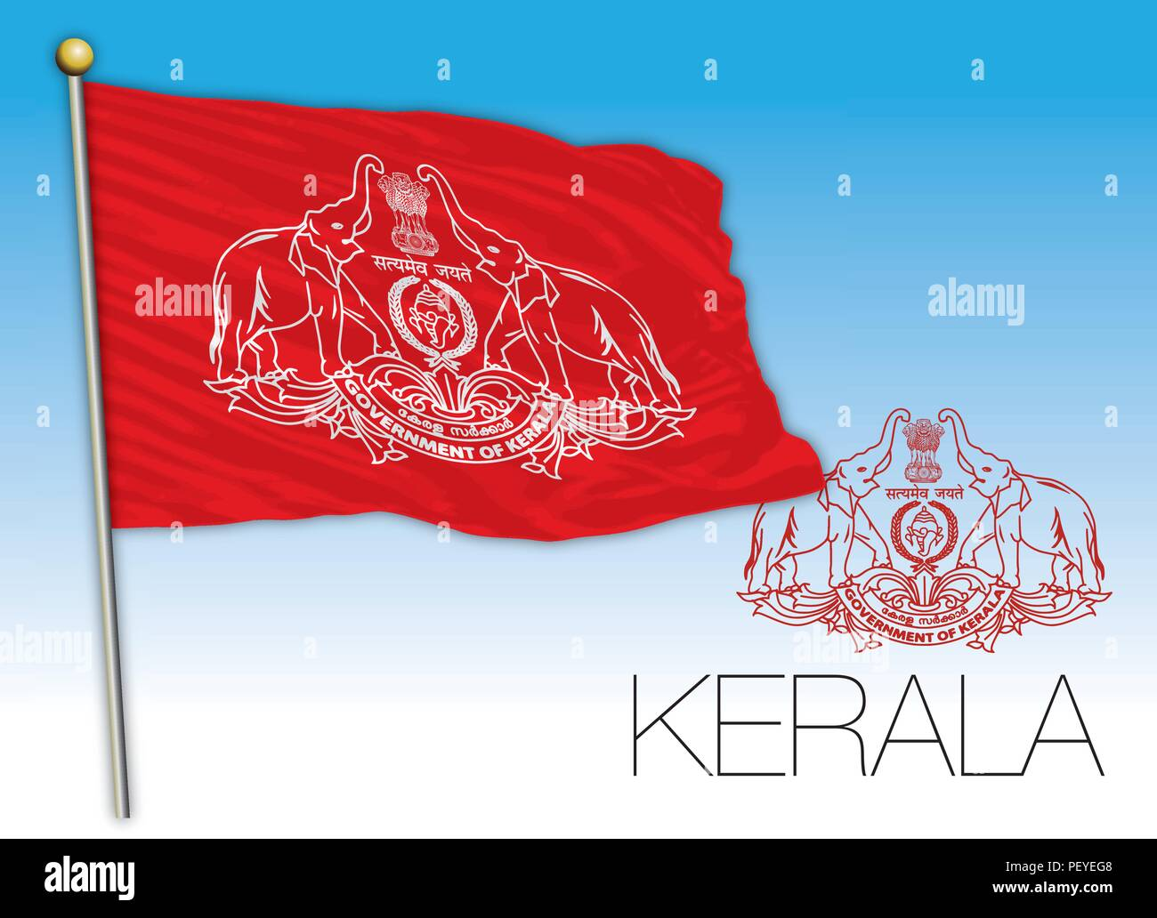 Kerala regional flag, India - Stock Vector