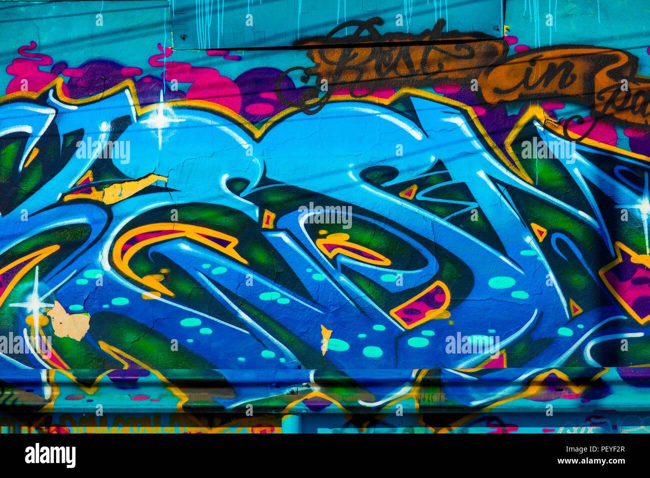 Fresh Graffiti - Stock Image