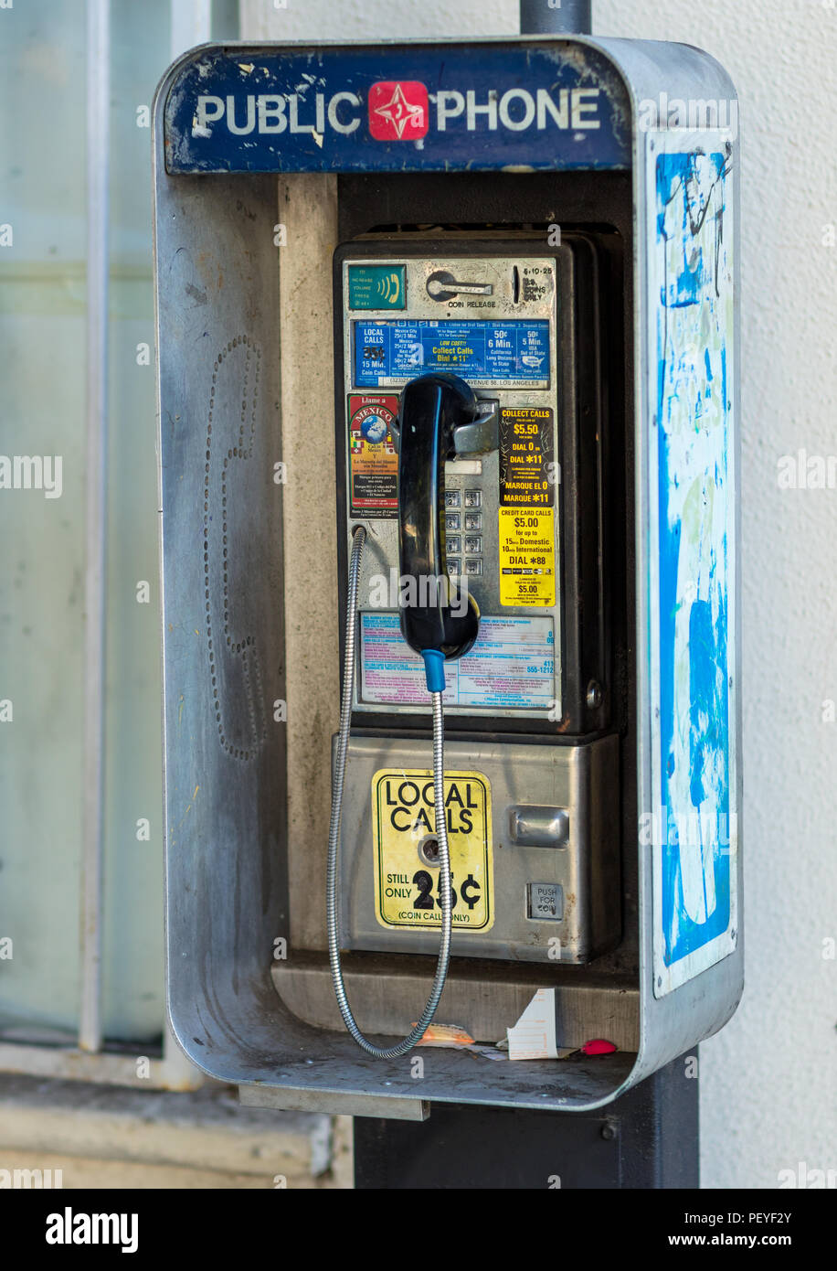 Public pay phone - Stock Image