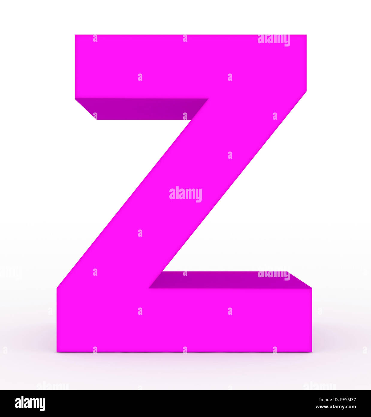 Letter Z Pictures.Letter Z 3d Purple Isolated On White 3d Rendering Stock Photo