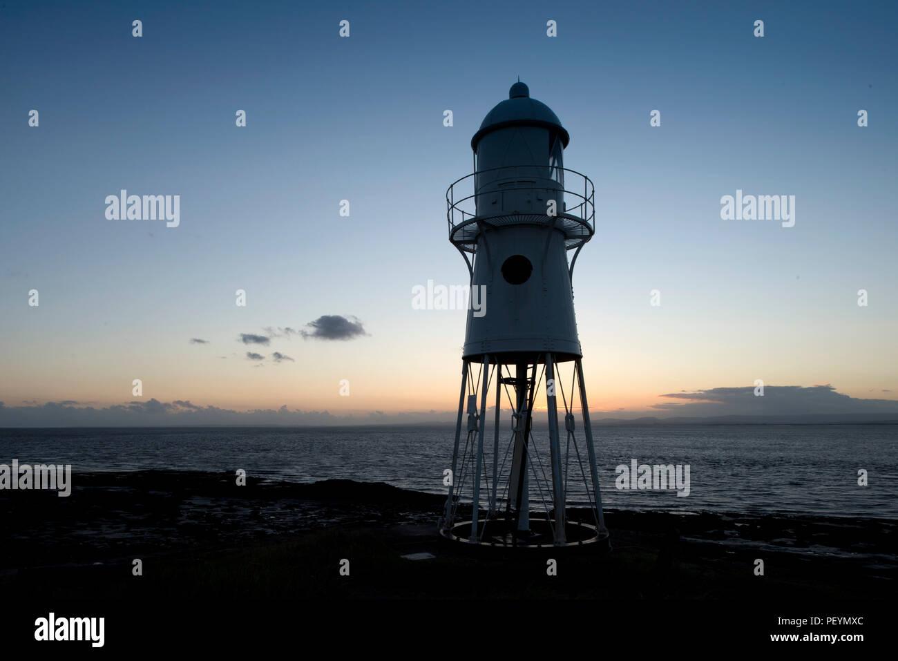 Black Nore Lighthouse, Portishead, Somerset, UK - Stock Image
