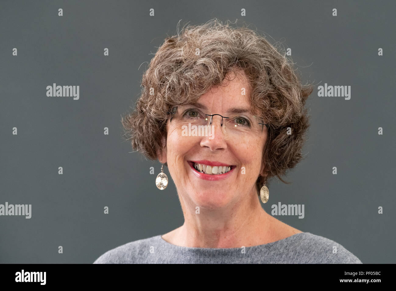 Edinburgh, Scotland, UK; 18 August, 2018. Pictured; Jane Robinson, a British social historian specialising in the study of women pioneers in various fields. Her book 'Hearts and Minds', explores the Great Pilgrimage of 1913 which saw thousands of women descend on London and demand to be heard. Credit: Iain Masterton/Alamy Live News - Stock Image