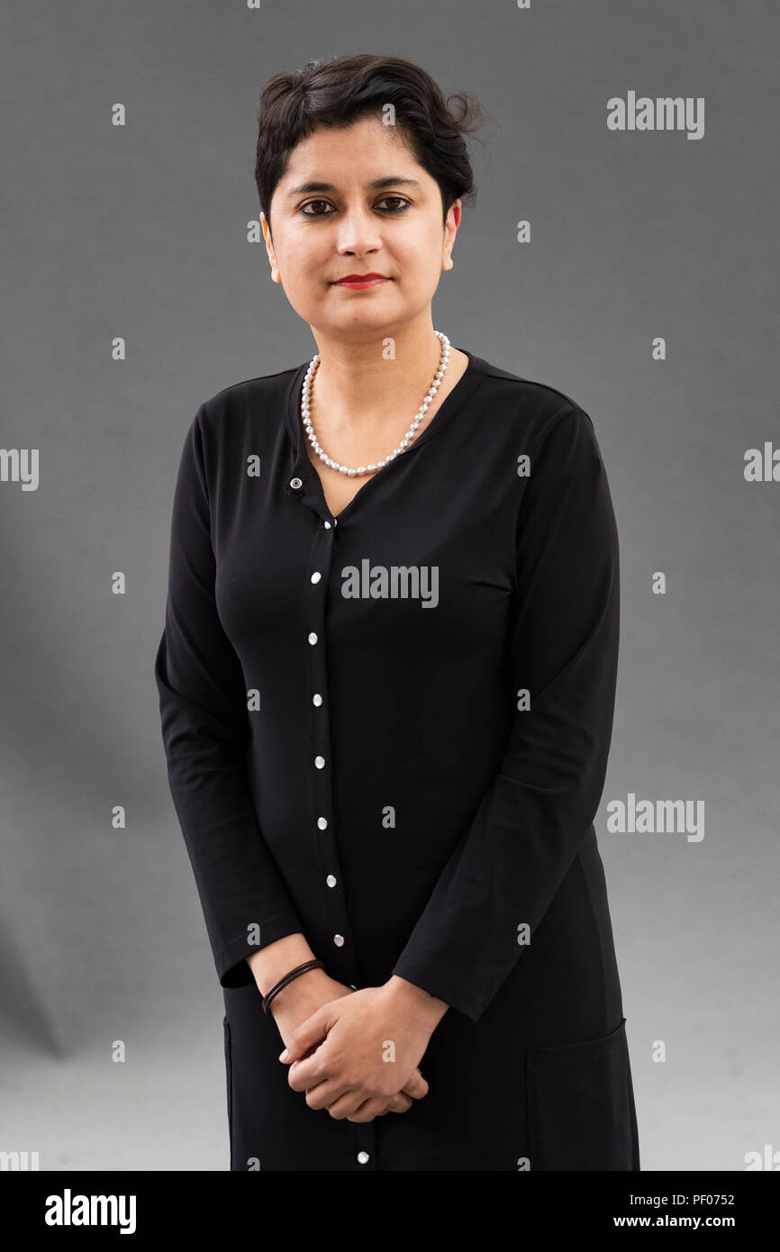 Edinburgh, Scotland, UK; 18 August, 2018. Pictured; Shami Chakrabarti The Labour Peer and former director of Liberty. Credit: Iain Masterton/Alamy Live News - Stock Image
