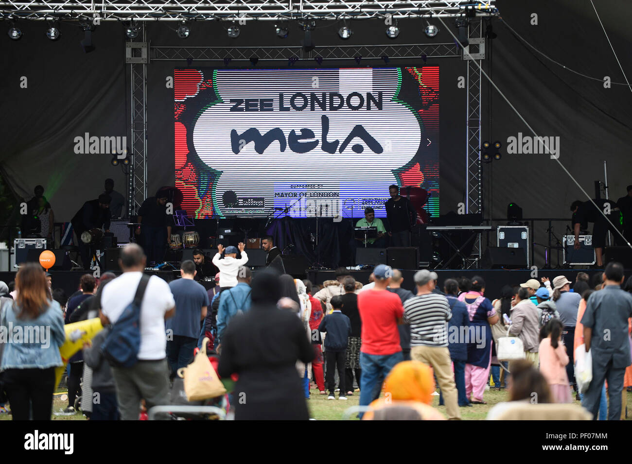 eef0a71eb8 London, UK. 18 August 2018. The main stage at the ZEE London Mela