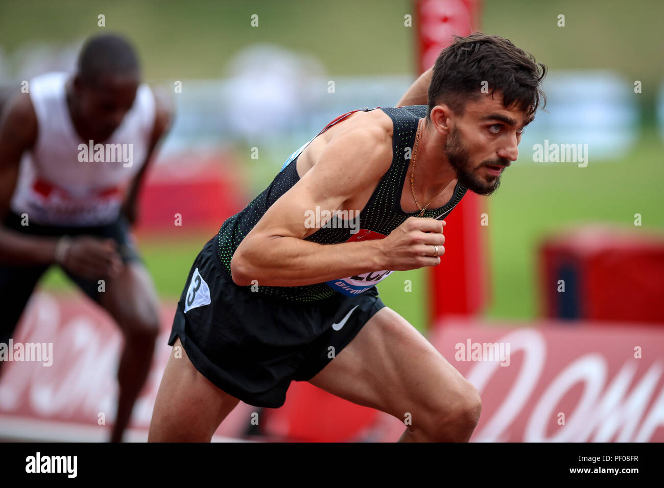 Alexander Stadium, Birmingham, UK. 18th Aug, 2018. Diamond League Muller Grand Prix; Adam Kszczot (POL) sets off as he compete in the Men's 800m Credit: Action Plus Sports/Alamy Live News - Stock Image