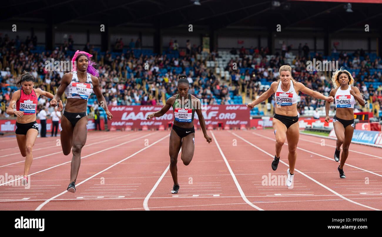 IAAF Diamond League, Birmingham Grand Prix 2018 - Stock Image