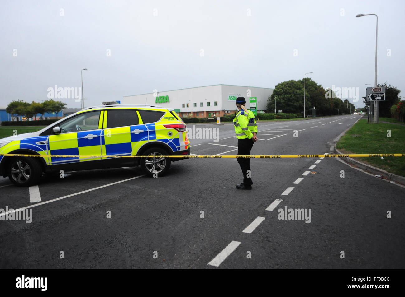 The supermarket ASDA  in Clevedon North Somerset was evacuated early Saturday evening and the Bomb Squad were called/ Robert Timoney/Alamy/Live/News Stock Photo