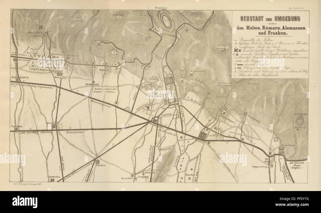 Neustadt An Der Weinstraße & Winzingen Europe Maps Neustadt An Der Haardt Karte 1906 Map
