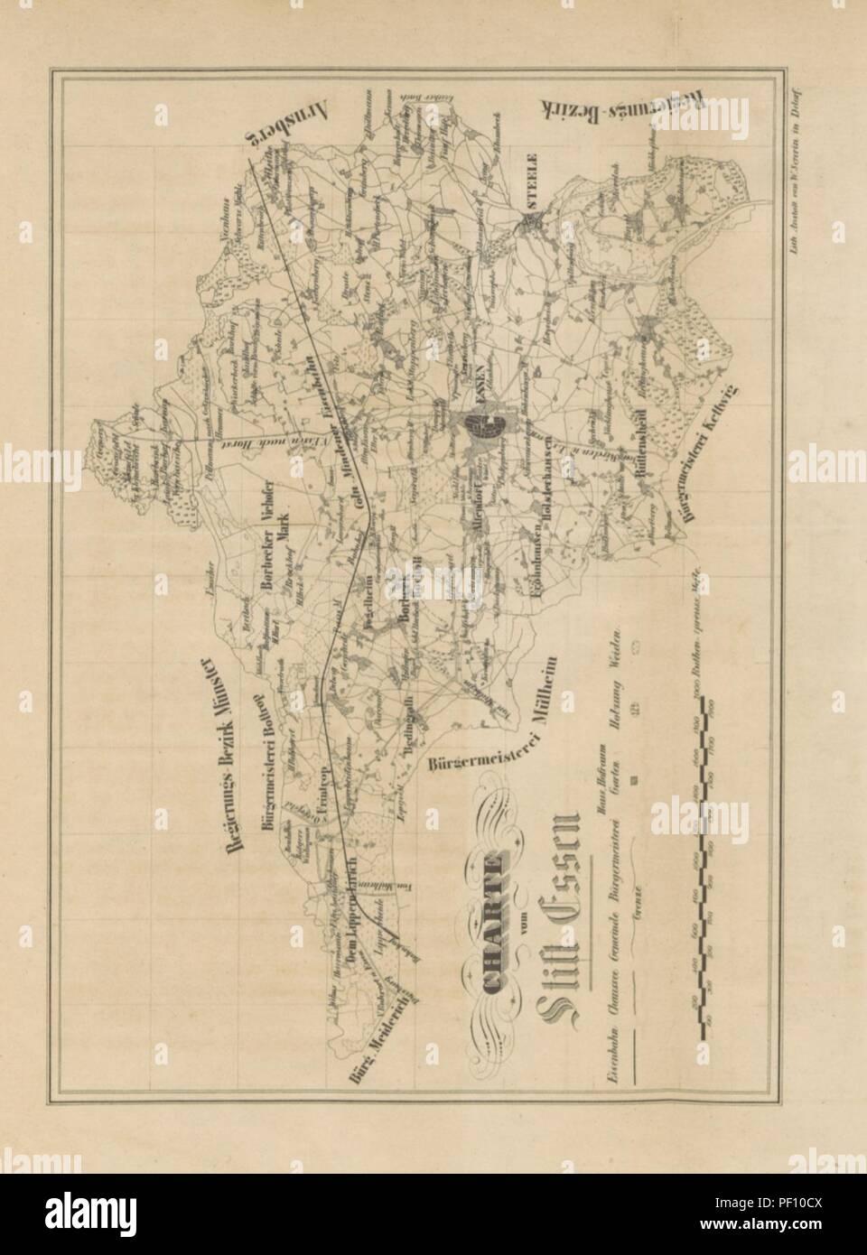 Stadt Essen Karte.Image From Page 383 Of Geschichte Des Furstenthums Und Der