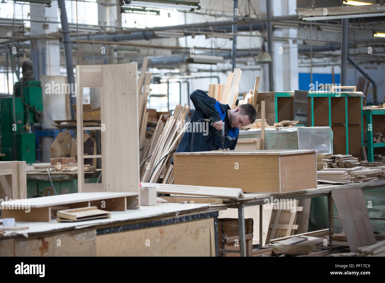 Belarus, The City Of Gomel, On April 26, 2018. Furniture Factory.