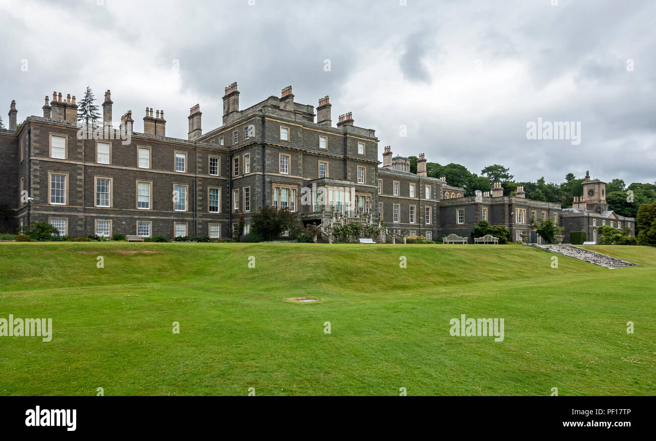 Bowhill House at Bowhill near Selkirk Scottish Borders Scotland UK - Stock Image
