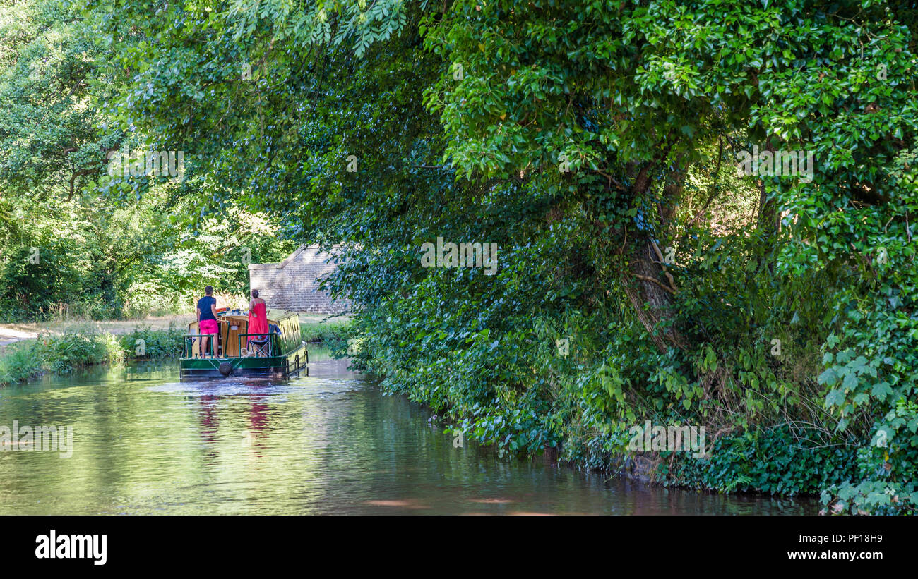 Canal and bridge in Talybont-on Usk in Wales, UK - Stock Image