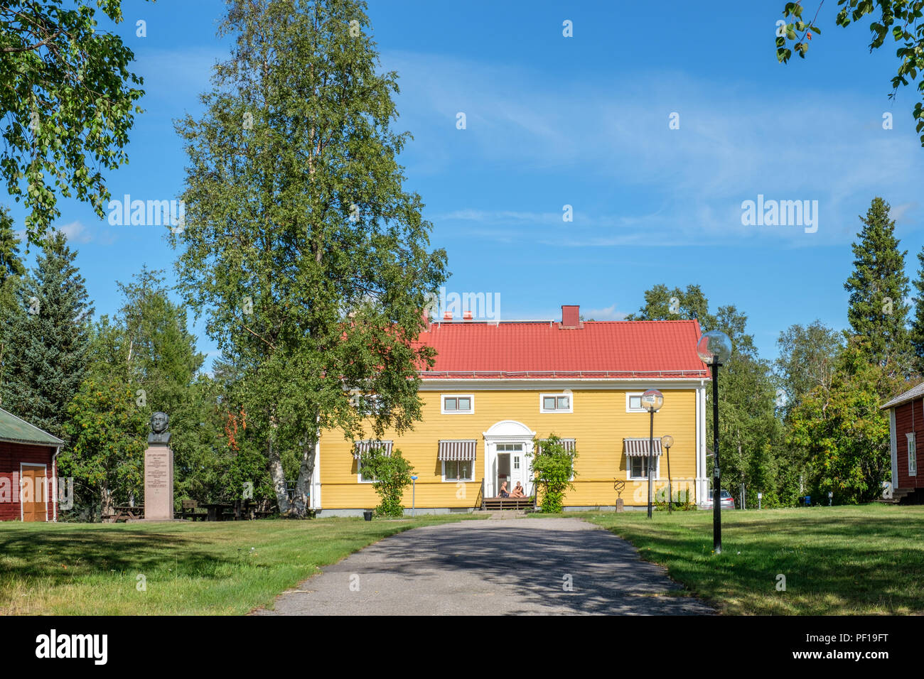The manse in Pajala in northern Sweden. Today it is a museum in honor of priest Lars Levi Laestadius - Stock Image