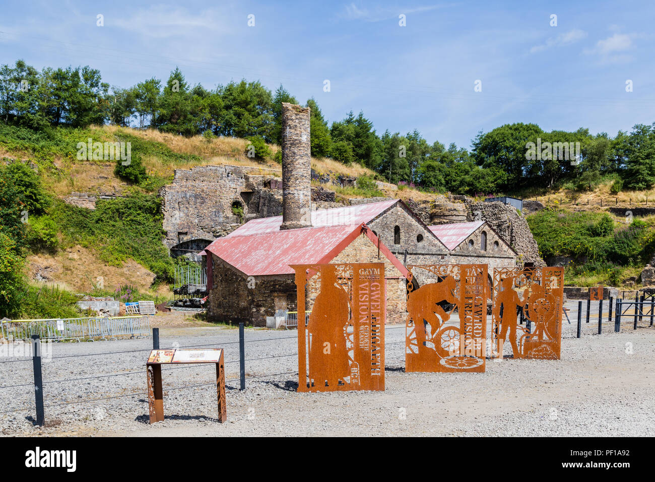 Blaenavon Ironworks in Wales, UK Stock Photo