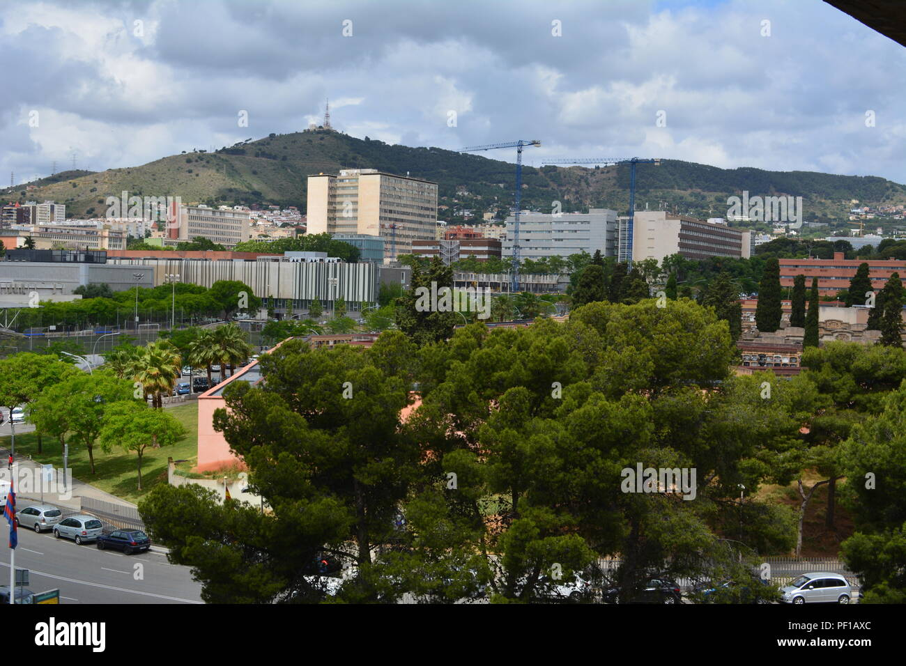 View from Camp Nou. - Stock Image