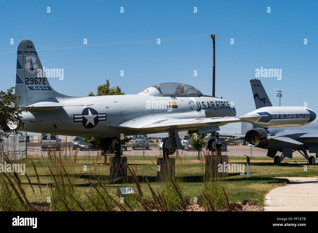 The 120th Airlift Wing, Montana Air National Guard, in Great Falls, Montana - Stock Image