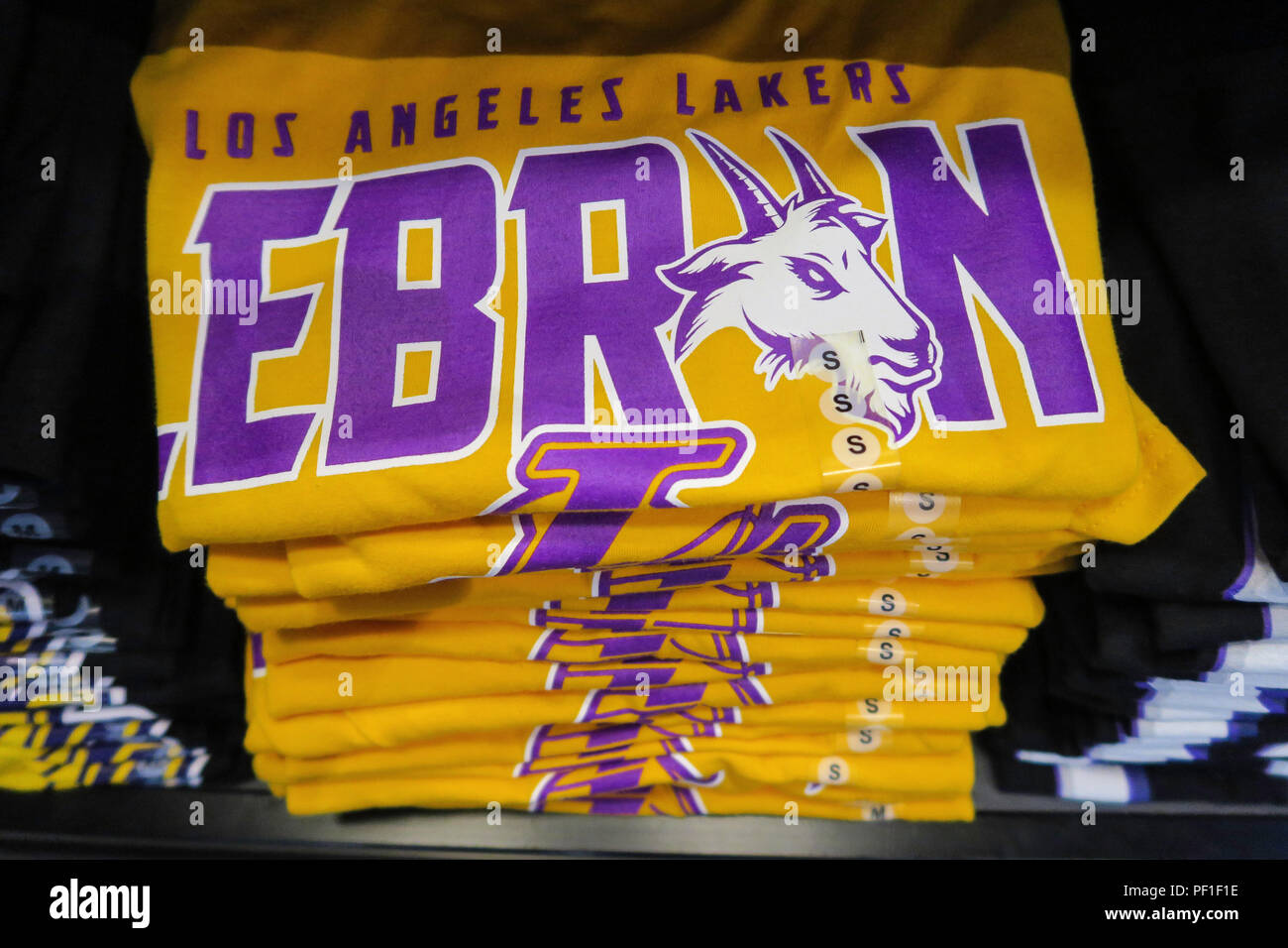 reputable site f47da 66470 Lebron James and Lakers Branded Merchandise at the NBA Store ...