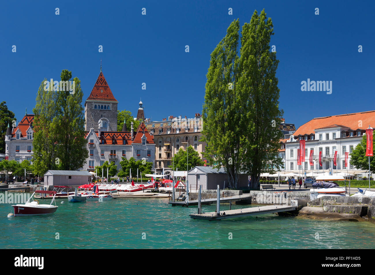 Ouchy, Lausanne, Switzerland - Stock Image
