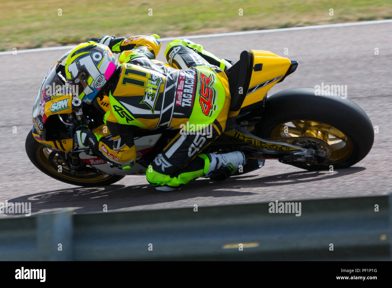 James Ellison. TAG Yamaha. Bennetts, British Super Bike, Thruxton, Hampshire, UK,  2018. - Stock Image