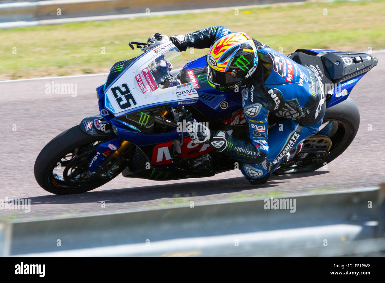 Josh Brookes. McAMS Yamaha. Bennetts, British Super Bike, Thruxton, Hampshire, UK,  2018. - Stock Image