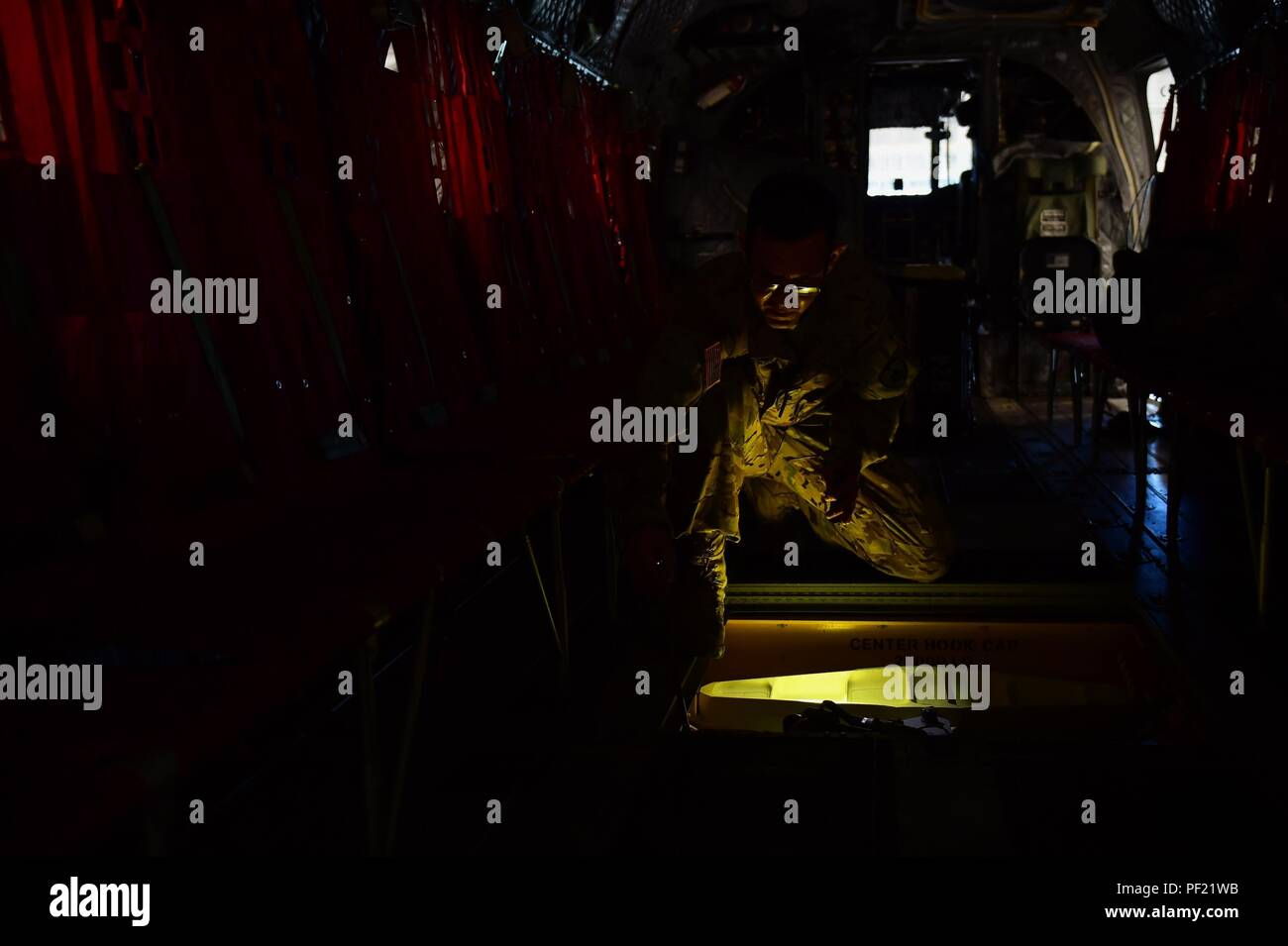 US Army Sgt Benjamin Stocker Colorado National Guard CH 47 Flight Engineer And