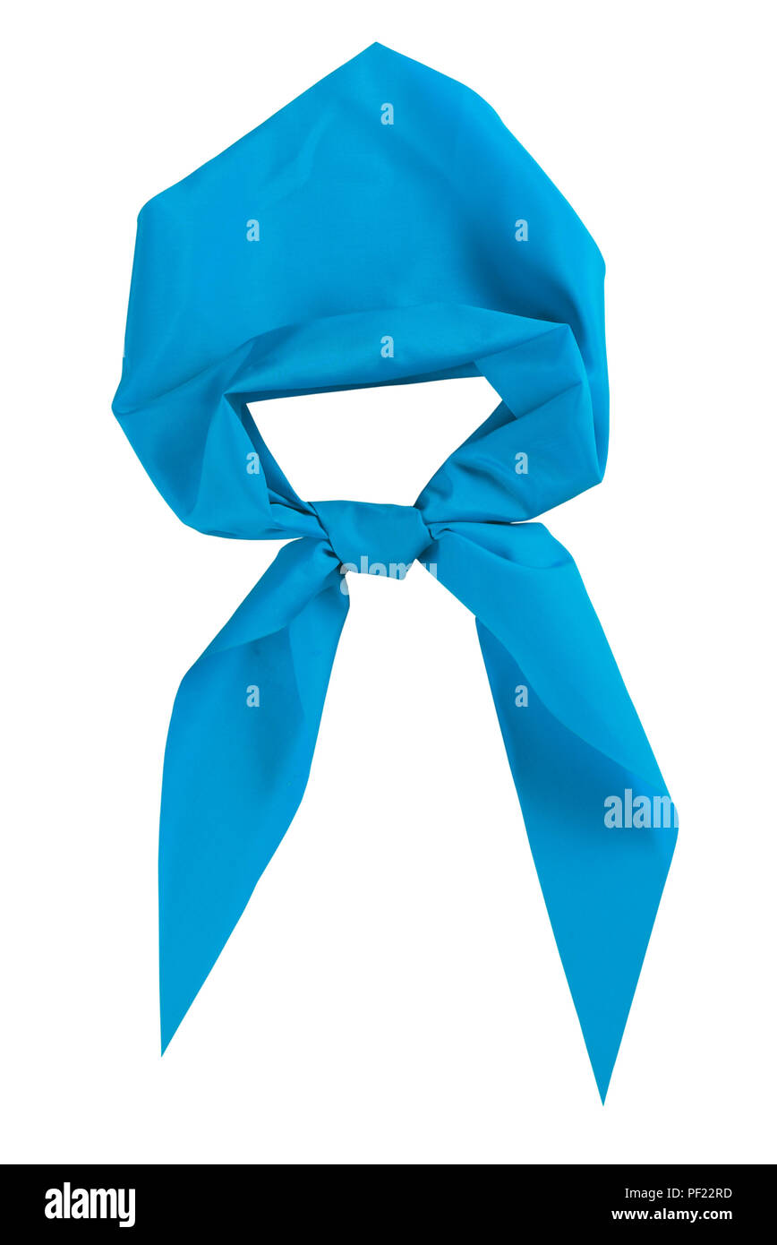 Scout tie isolated on white background. Blue color. - Stock Image