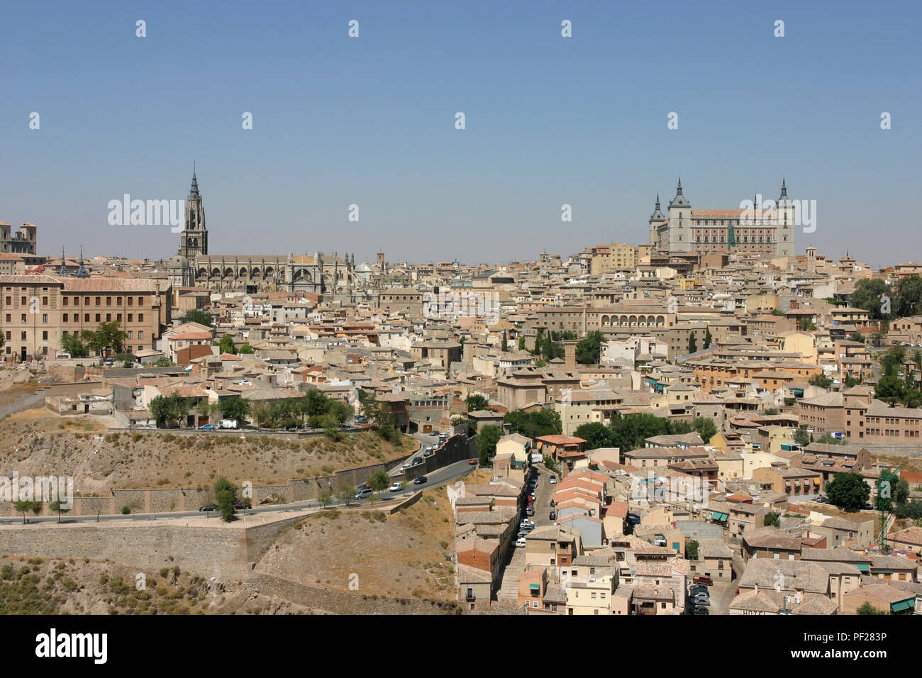 View of the City of Toldeo, Spain. - Stock Image