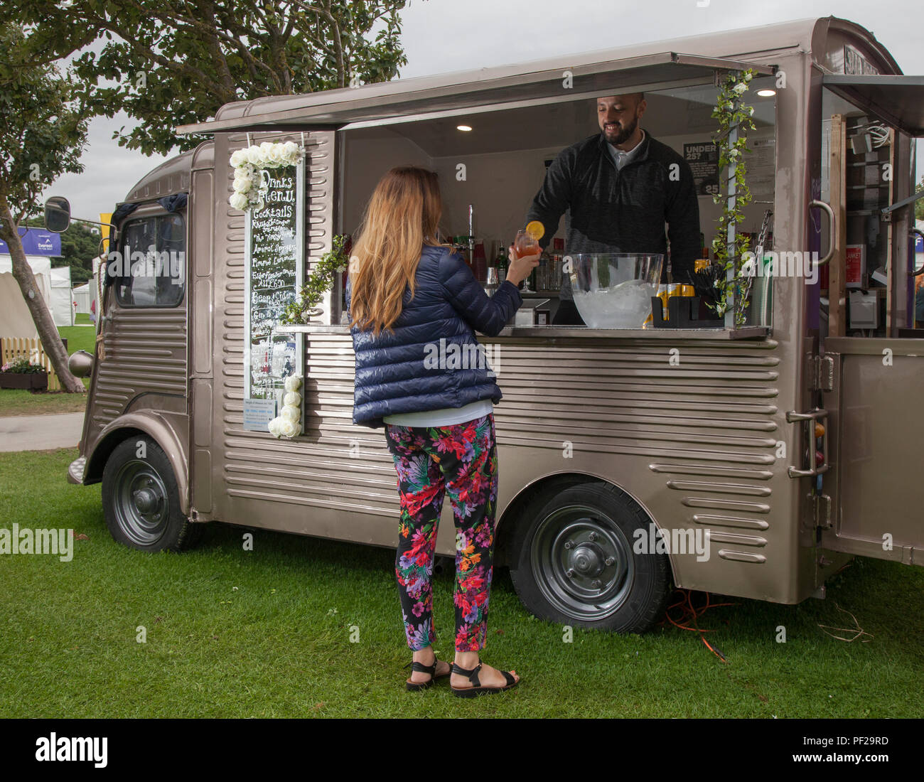 Orange Mobile Coffee Truck High Resolution Stock Photography And Images Alamy