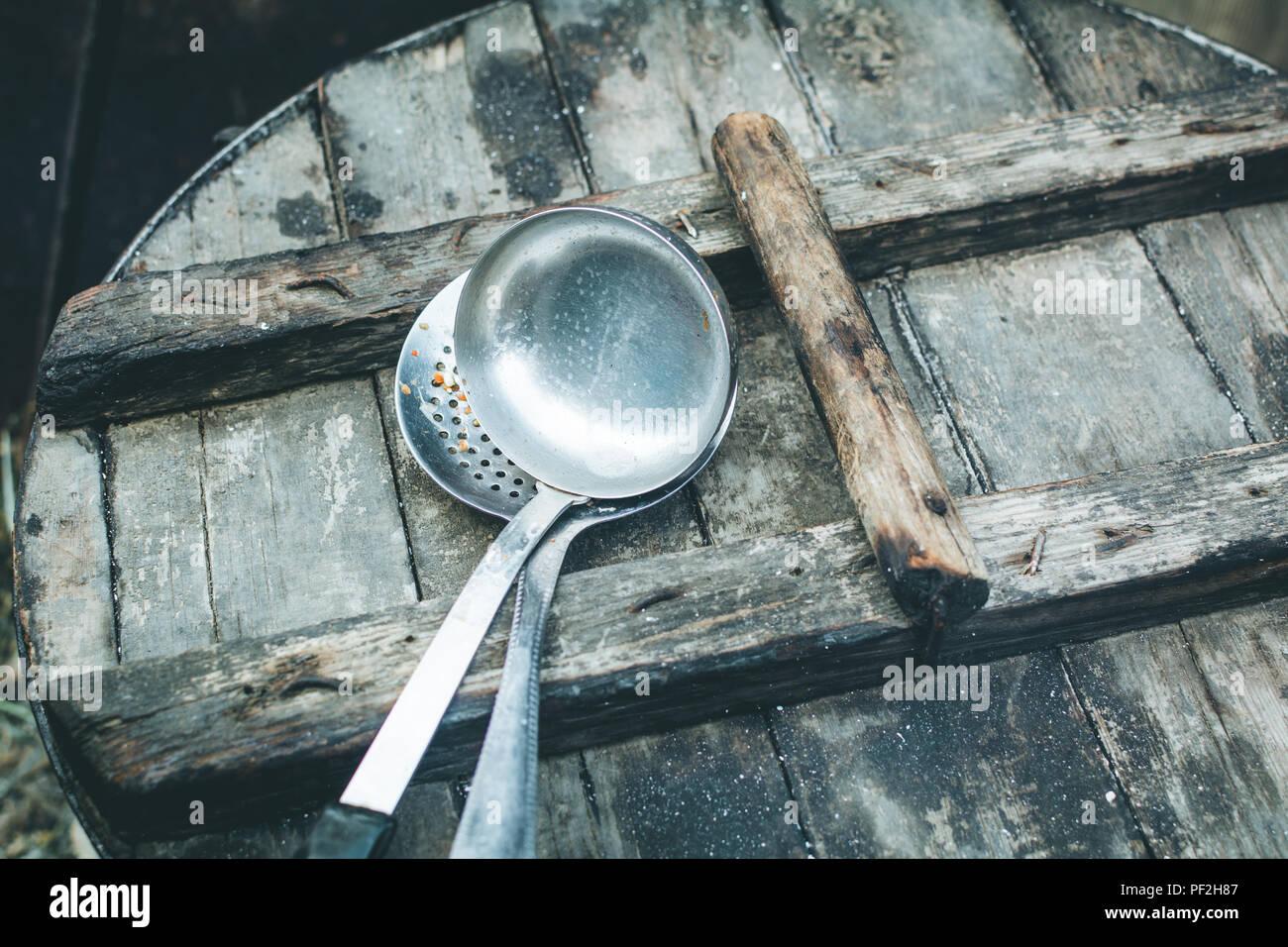 Utensil Ladle Food Home Stock Photos & Utensil Ladle Food Home Stock ...