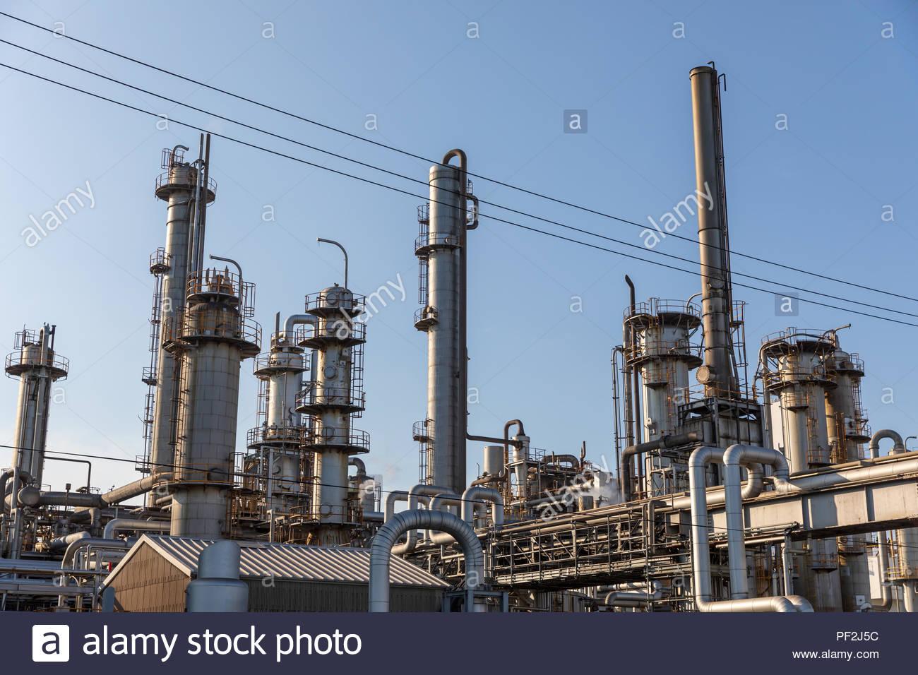 Chemical plant; Kawasaki, Kanagawa Prefecture, Japan - Stock Image