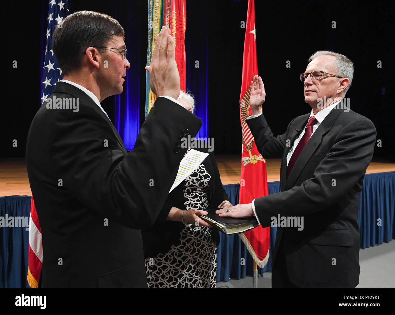 Secretary of the Army Dr  Mark D  Esper swears-in Honorable