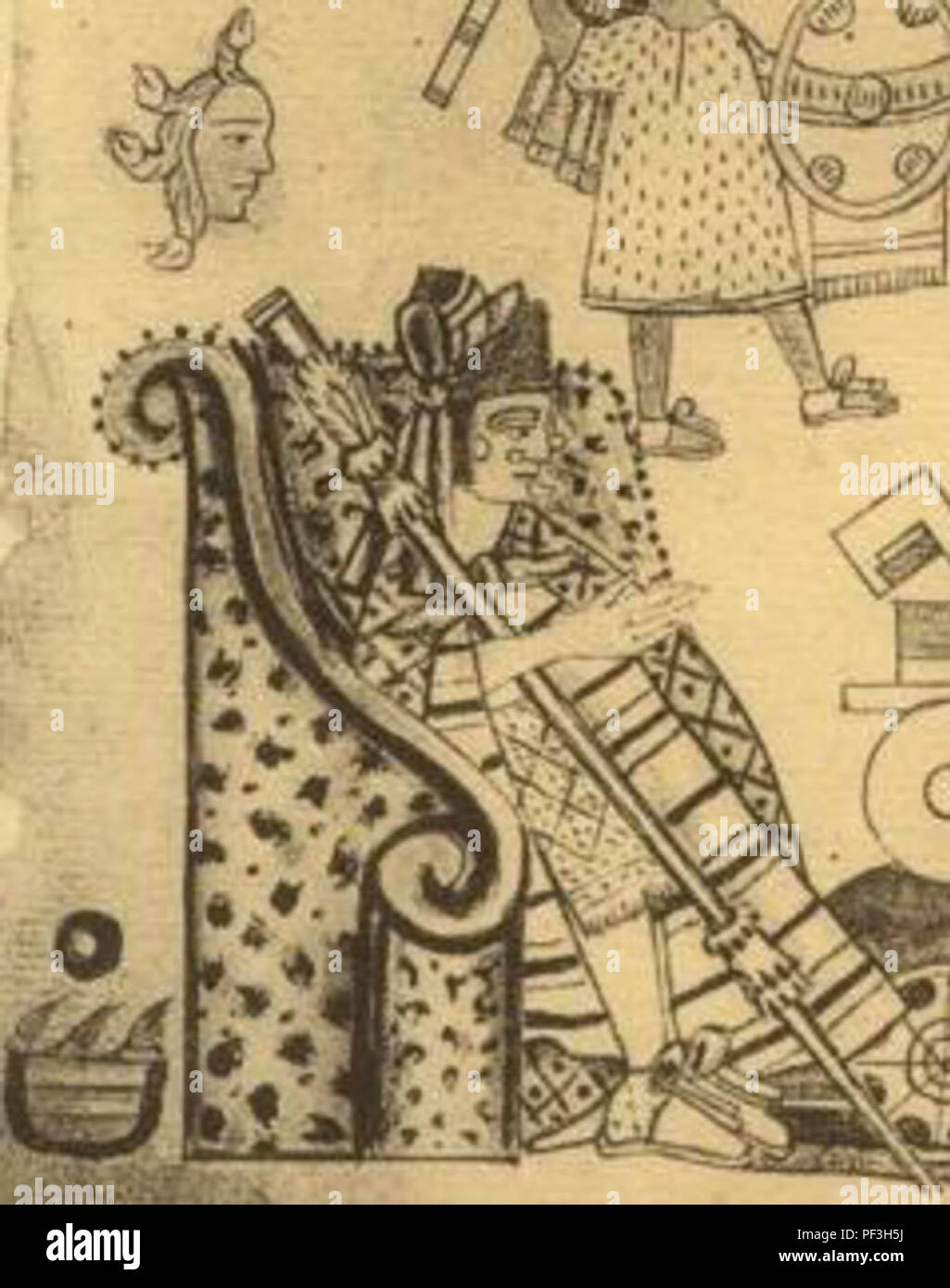 Tlatoāni Axayacatl, Aztec emperor from 1469 to 1481, under whom the Kingdom  of Calixtlahuaca was conquered and annexed by the Aztec empire.