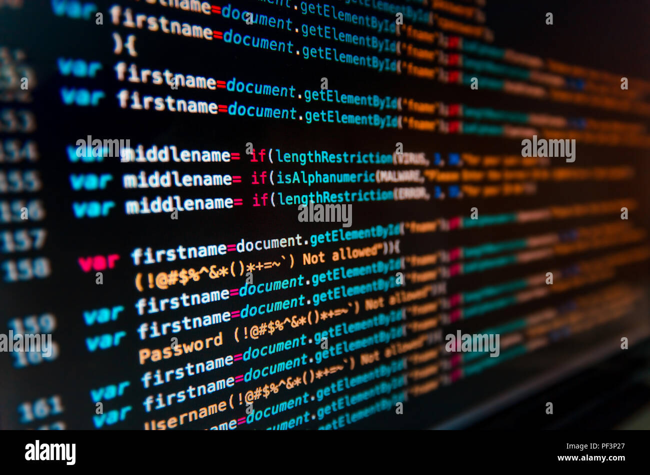 Desktop Source Code And Technology Background Developer Or Programer With Coding And Programming Wallpaper By Computer Language And Source Code Com Stock Photo Alamy