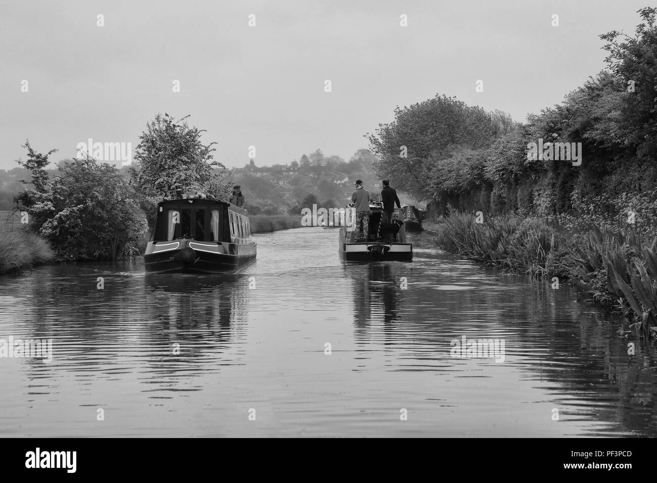 Canal Boating - Stock Image