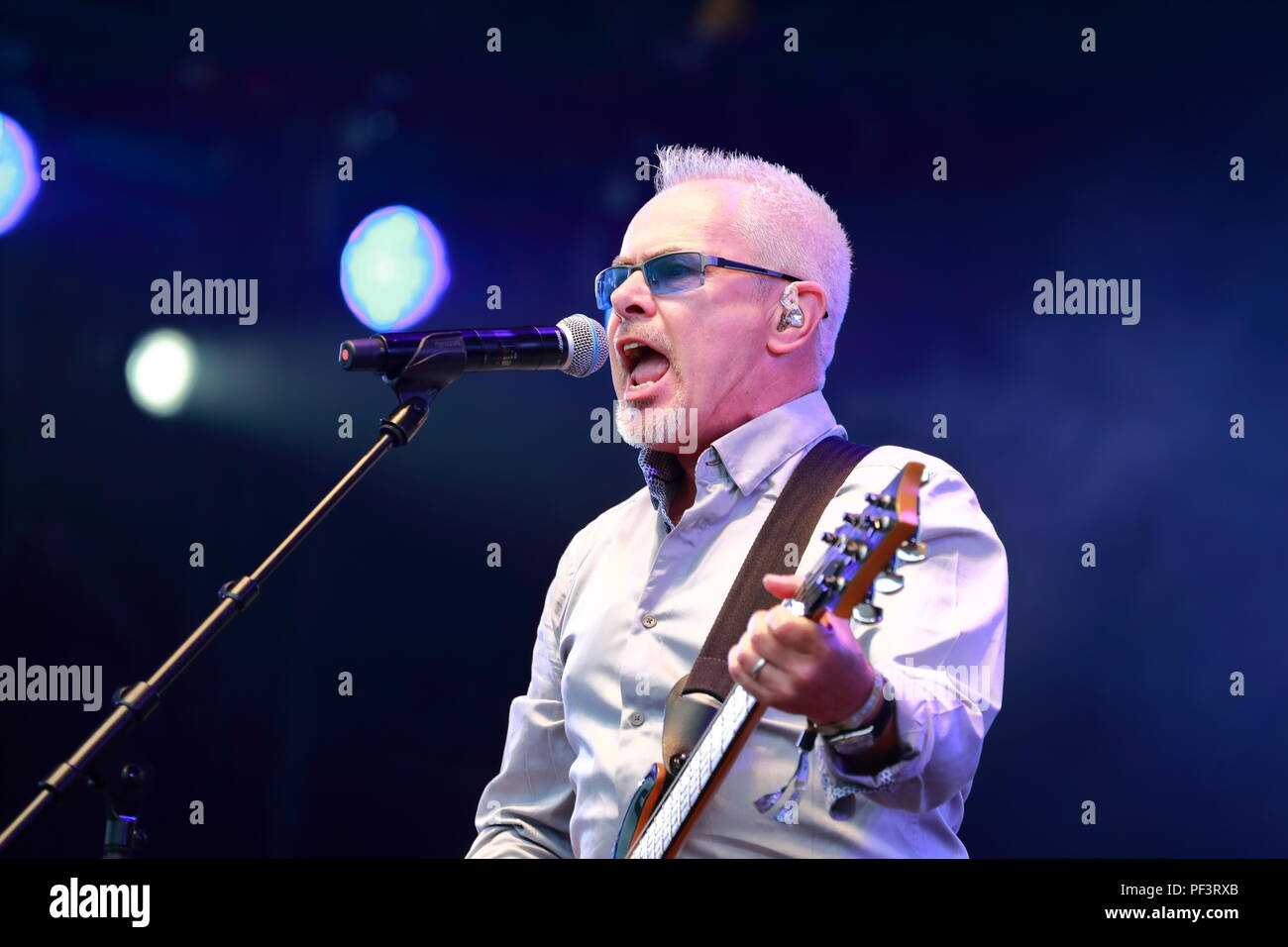 Nik Kershaw at the Rewind Festival South 2018 at Henley-on-Thames, UK - Stock Image