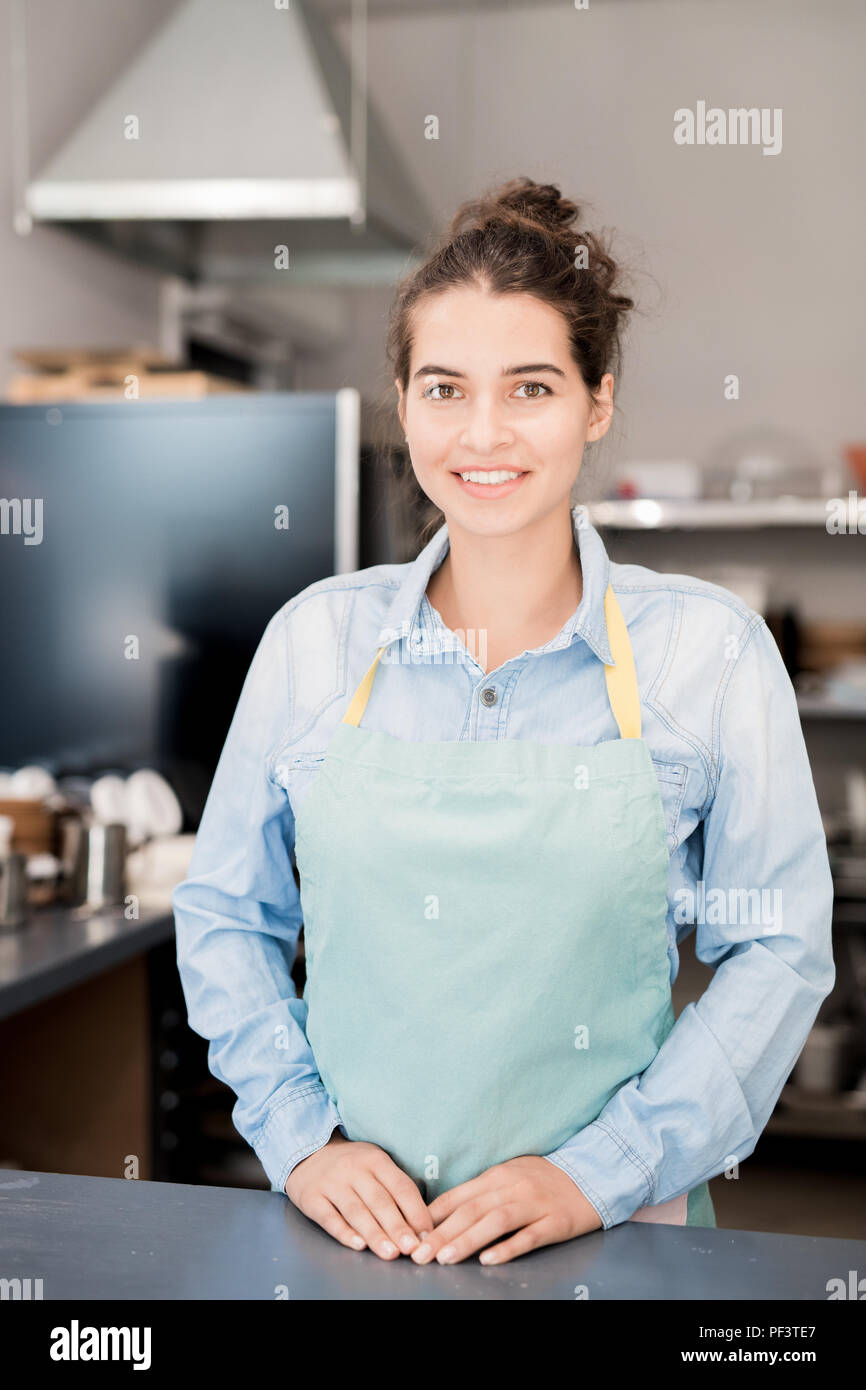 Latin-American Woman Keeping Shop - Stock Image