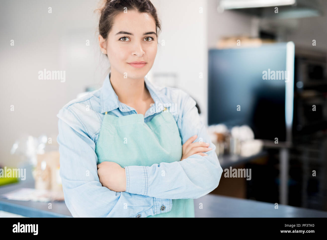 Hispanic Cafe Owner - Stock Image