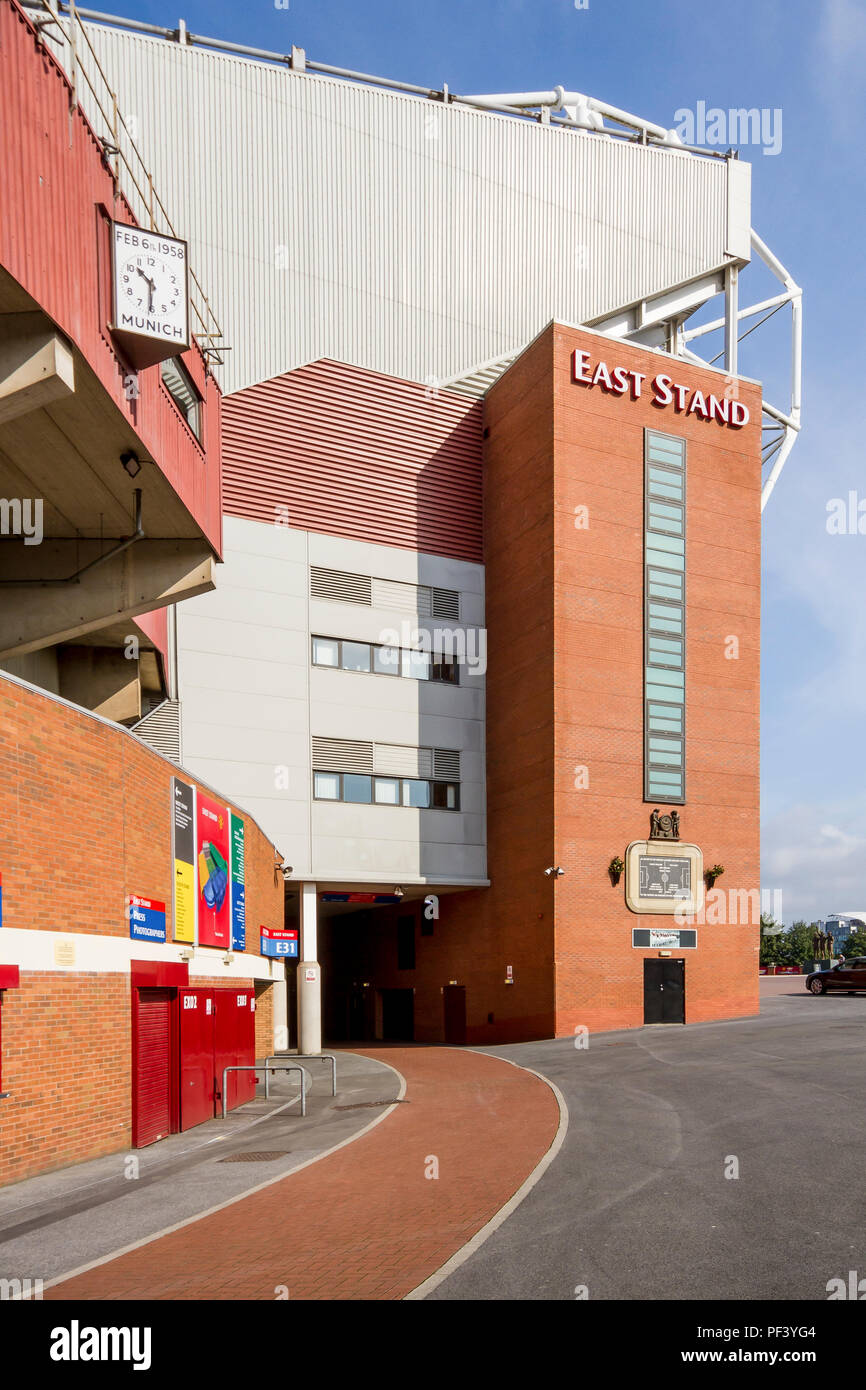 Old Trafford East Stand - Stock Image