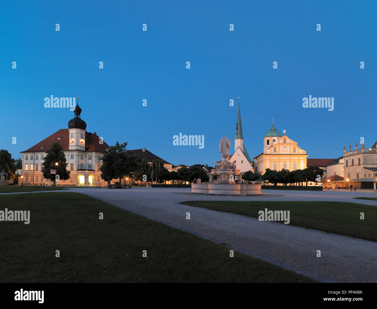 Kapellplatz,, Altötting, Oberbayern, Deutschland | Altötting, Bavaria, Germany - Stock Image