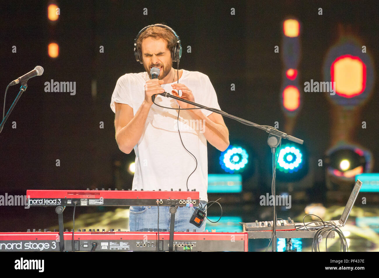 Mihail in concert at Top Of The Top 2018 Sopot Festival in Opera Lesna (Forest Opera) in Sopot, Poland. August 15th 2018 © Wojciech Strozyk / Alamy St - Stock Image