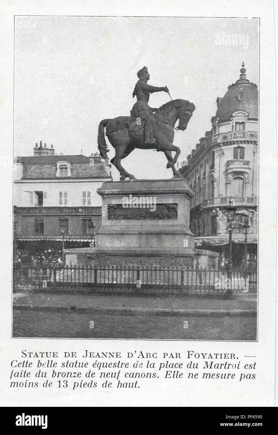 statue de jeanne d'arc par foyatier - Stock Image