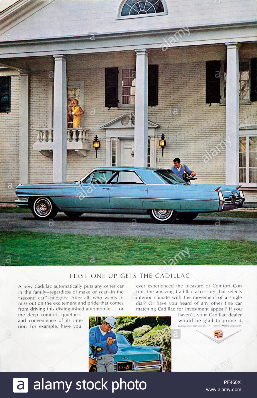 Vintage advertising for the Cadillac Car 1964 - Stock Image