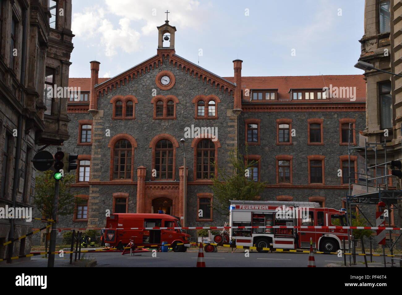 goerlitz saxony germany 2018 august: awo altenheim chemie unfall photo wehnert Stock Photo