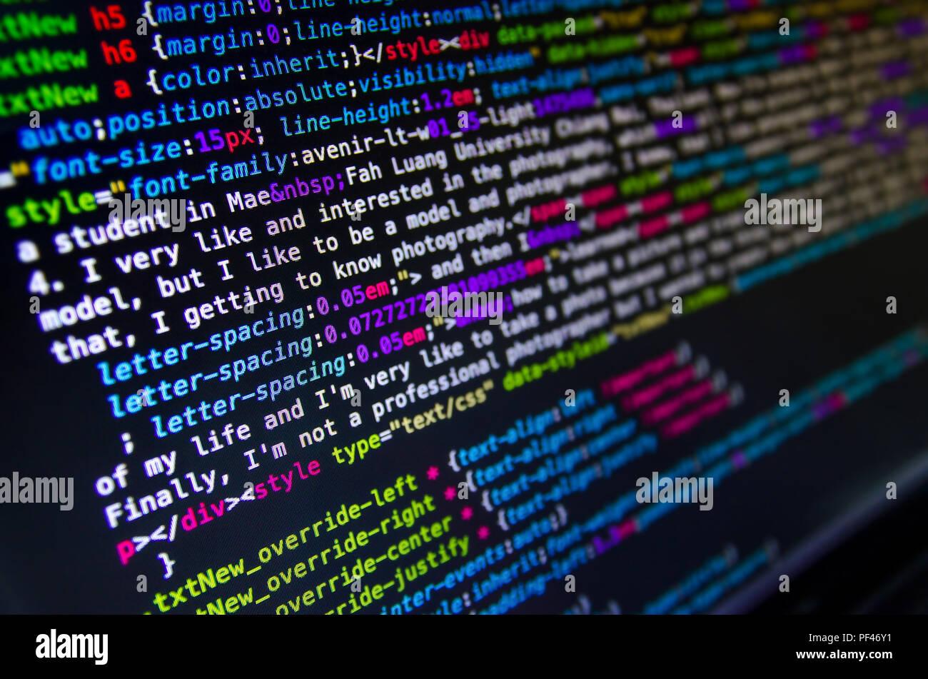 Desktop Source Code And Technology Background Developer Or
