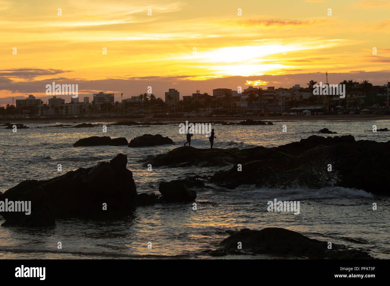 Pôr do Sol em Salvador Stock Photo