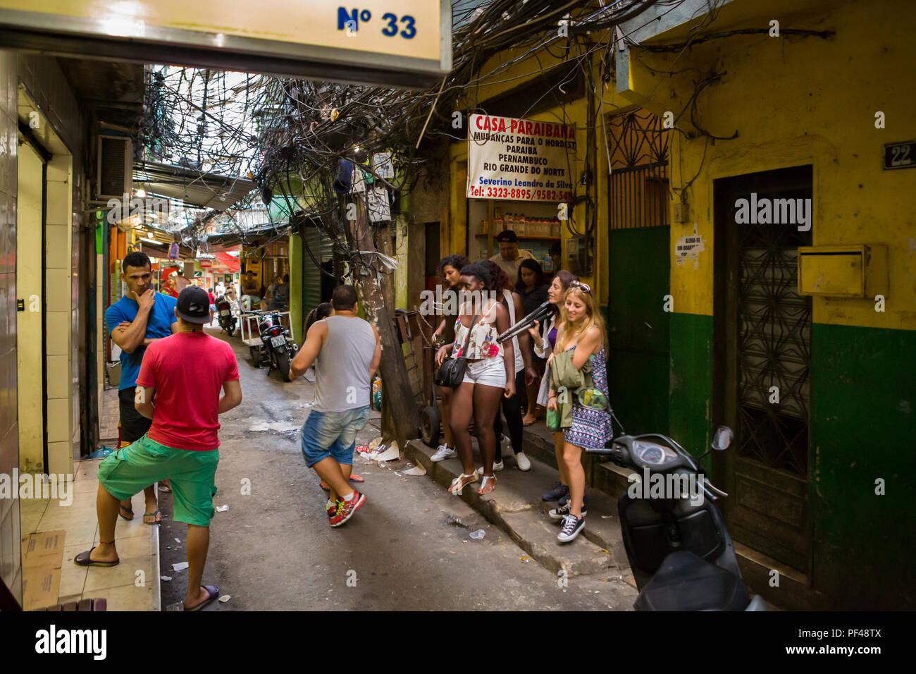 Rocinha Favela in Rio de Janeiro - Stock Image
