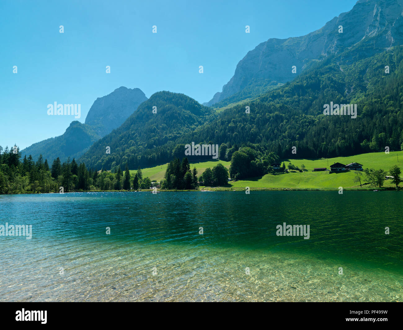 Hintersee, Ramsau, Berchtesgadener Land, Oberbayern, Bayern, Deutschland   Bavaria, Germany - Stock Image